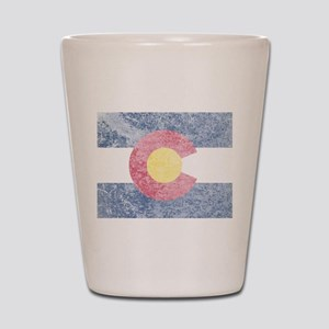 Vintage Colorado Flag Shot Glass