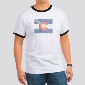 Vintage Colorado Flag Ringer T