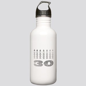 30th Birthday Candles Stainless Water Bottle 1.0L