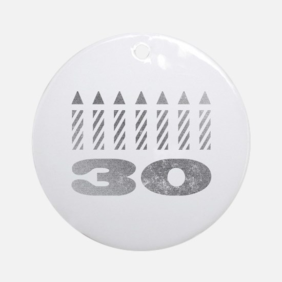 30th Birthday Candles Ornament (Round)