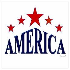 America Wall Art Poster