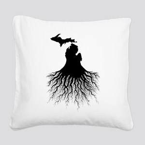 Michigan Roots Square Canvas Pillow