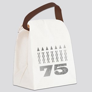 75th Birthday Candles Canvas Lunch Bag