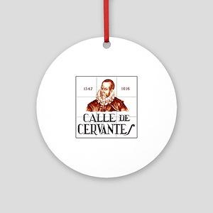 Calle de Cervantes, Madrid - Spain Ornament (Round