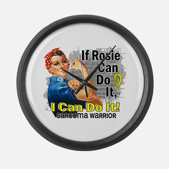 If Rosie Can Do It Sarcoma Large Wall Clock
