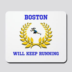 Boston Strong Keep Running Mousepad