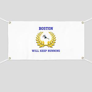 Boston Strong Keep Running Banner