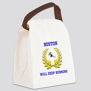 Boston Strong Keep Running Canvas Lunch Bag