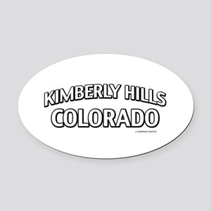 Kimberly Hills Colorado Oval Car Magnet