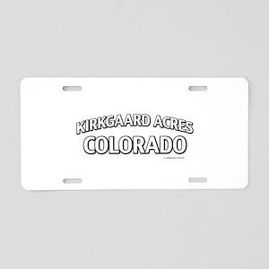 Kirkgaard Acres Colorado Aluminum License Plate