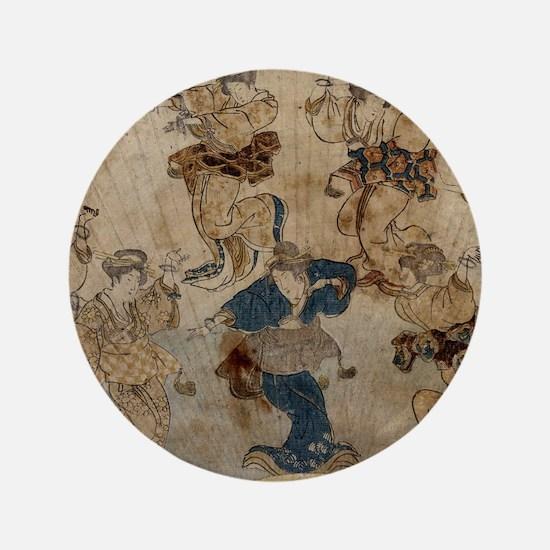 Dance - Toyokuni Utagawa - c1815 - woodcut Button