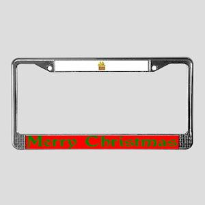 Christmas Gift License Plate Frame