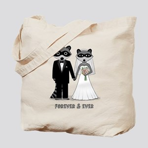 Raccoons Wedding Tote Bag