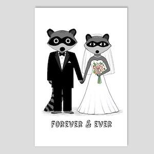 Raccoons Wedding Postcards (Package of 8)