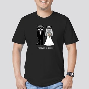 Raccoons Wedding Men's Fitted T-Shirt (dark)