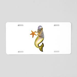 Mermaid Squirrel Aluminum License Plate