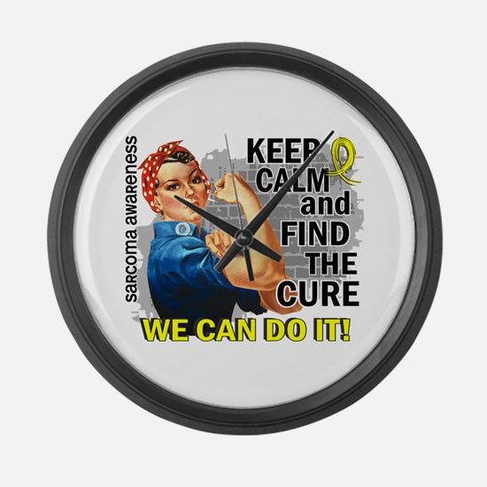 Rosie Keep Calm Sarcoma Large Wall Clock