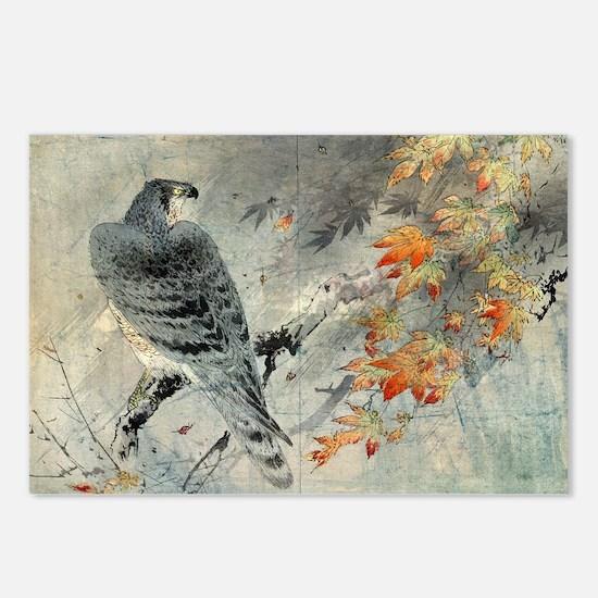 Eagle On A Maple Branch - anon - c1880 - watercolo