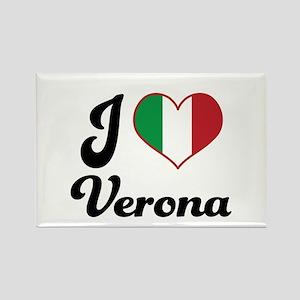 Italy I Heart Verona Rectangle Magnet