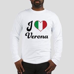 Italy I Heart Verona Long Sleeve T-Shirt