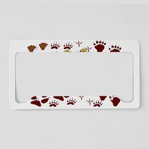 Animal Tracks License Plate Holder