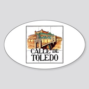 Calle de Toledo, Madrid - Spain Oval Sticker