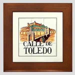 Calle de Toledo, Madrid - Spain Framed Tile