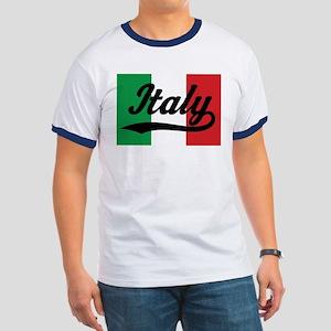 Italy Italian Flag Ringer T