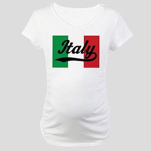 Italy Italian Flag Maternity T-Shirt