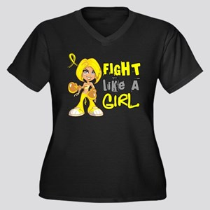 Fights Like a Girl 42.8 Sarcoma Women's Plus Size