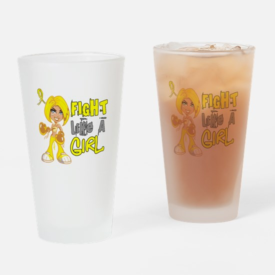 Fights Like a Girl 42.8 Sarcoma Drinking Glass