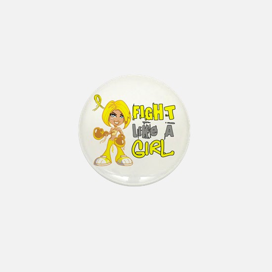 Fights Like a Girl 42.8 Sarcoma Mini Button