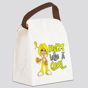 Fights Like a Girl 42.8 Sarcoma Canvas Lunch Bag