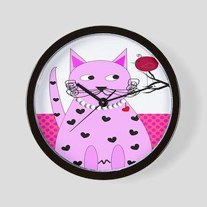 cat bird 6 Wall Clock