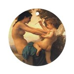 Cupid w/ Girl Ornament (Round)