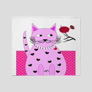 cat bird 6 Throw Blanket