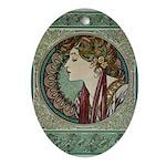 Laurel Oval Ornament