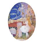 Alice & Caterpiller Oval Ornament