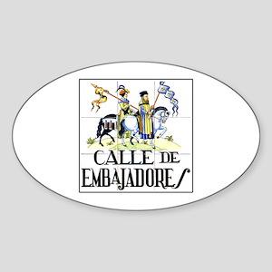 Calle de Embajadores, Madrid - Spain Sticker (Oval