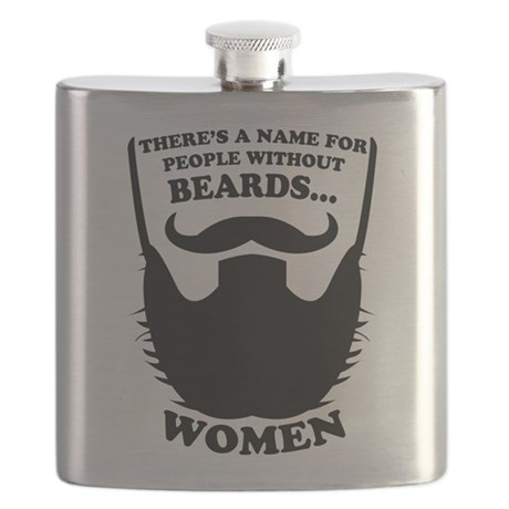 Funny Beard Saying Flask