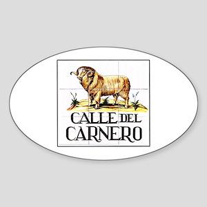 Calle del Carnero, Madrid - Spain Oval Sticker