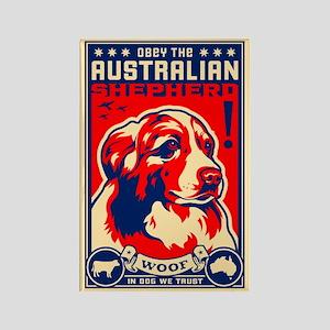 Obey the Australian Shepherd! Magnet