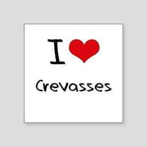 I love Crevasses Sticker