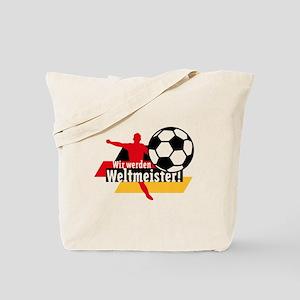 Wir werden Weltmeister! Tote Bag