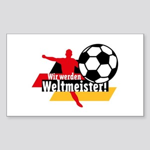 Wir werden Weltmeister! Sticker (Rectangle)