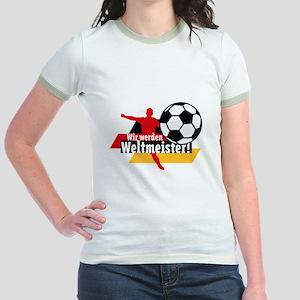 Wir werden Weltmeister! Jr. Ringer T-Shirt