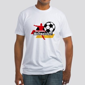 Wir werden Weltmeister! Fitted T-Shirt