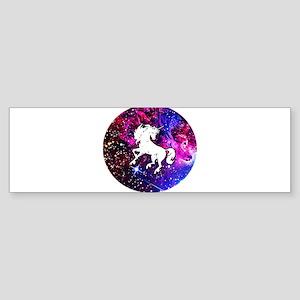 Unicorn in Space Bumper Sticker