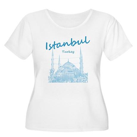 Istanbul Women's Plus Size Scoop Neck T-Shirt