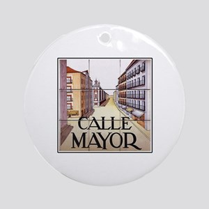Calle Mayor, Madrid - Spain Ornament (Round)
